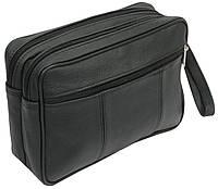 Мужская кожаная сумка-борсетка 41394 MICHAL черный