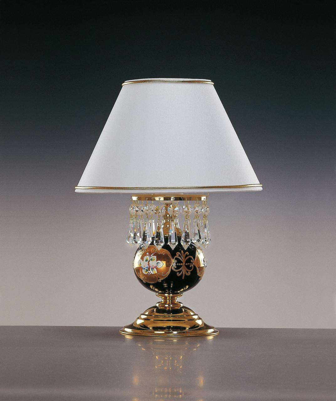 Настольная лампа хрустальная СМАЛЬТ