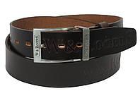 Кожаный мужской ремень под джинсы W-RogerS WRS-536-55 коричневый 115х4 см.