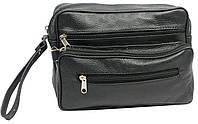 Мужская кожаная сумка-борсетка 41410 SUPER-BIS черный, 24х16х8 см