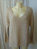 Свитер женский пуловер теплый акрил батал бренд Atmosphere р.52-56 3578а