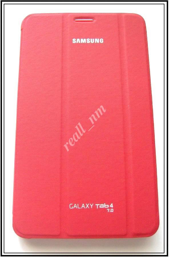 Красный чехол Book Cover #1 для Samsung Galaxy TAB 4 7.0 T230 T231