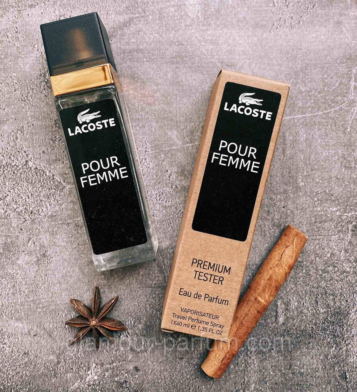 TESTER жіночий міні-парфуми Lacoste Pour Femme (Лакост Пур Фам) 40мл репліка ОПТ