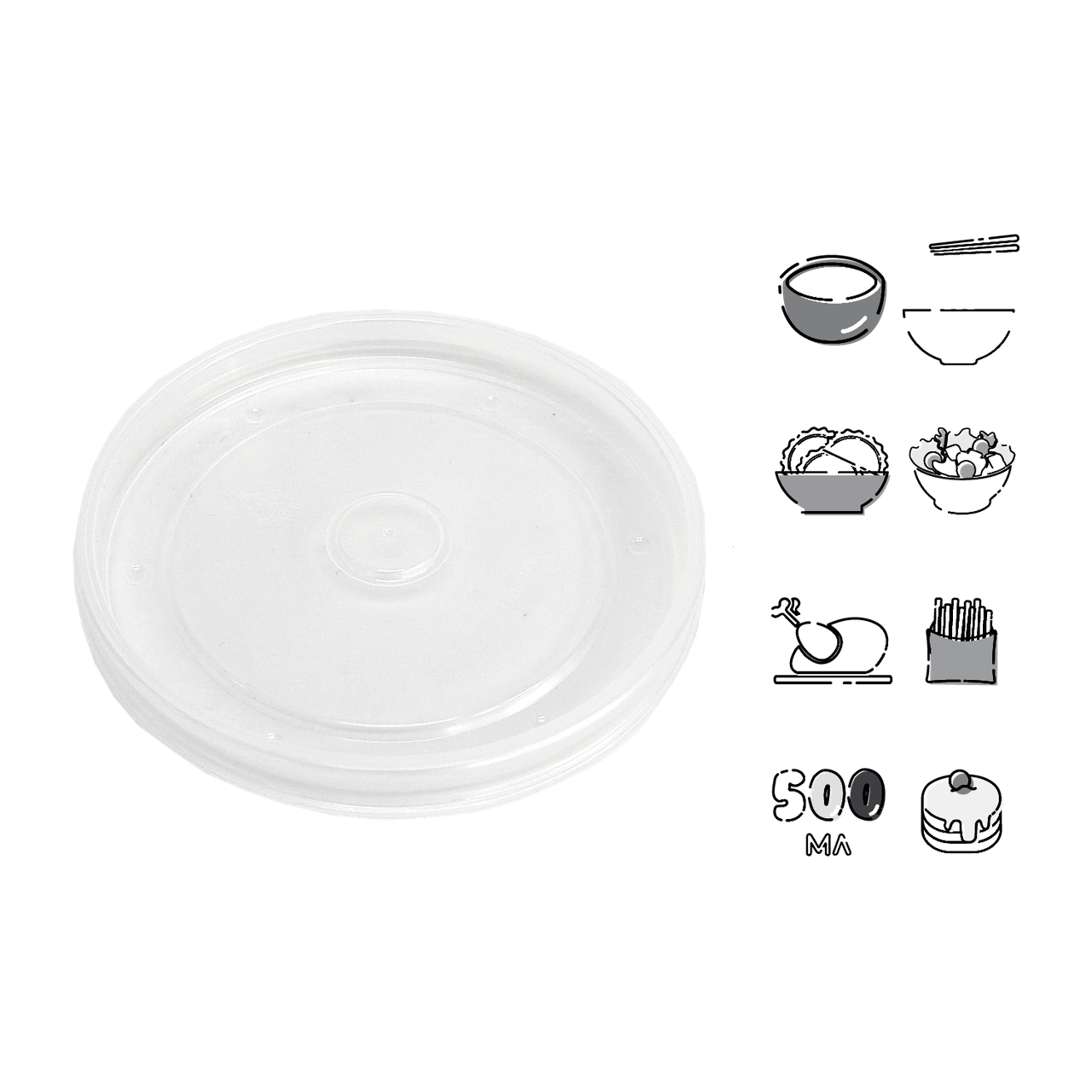 Крышка пластик КР9.7 (1уп/50шт)/(1ящ/10уп/500шт)