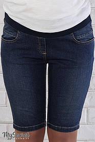 Джинсовые шорты для беременных стрейчевые, размеры от 44 до 50