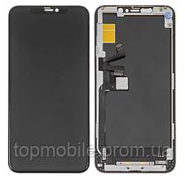 Дисплей для iPhone 11 Pro Max + touchscreen, черный, копия высокого качества
