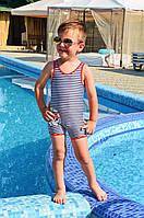 Полосатый купальник для мальчика Della Ho-Ho 104 Синий-Белый Della Ho-Ho