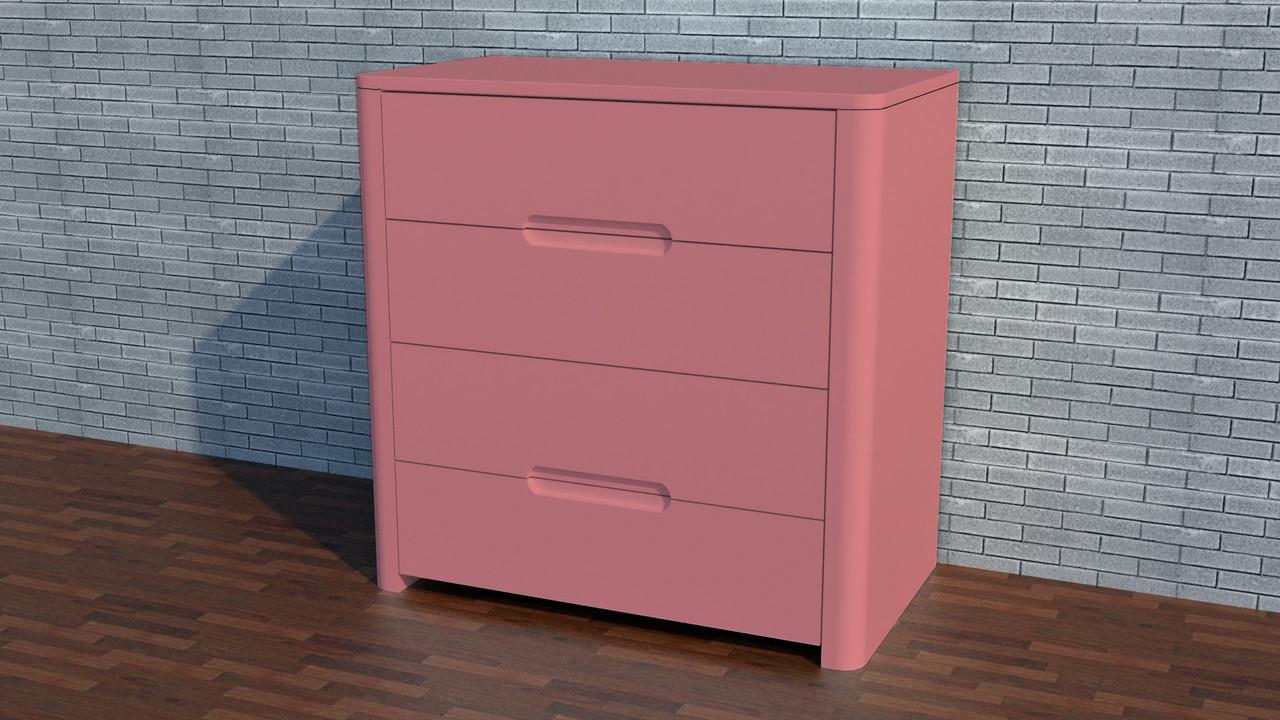 """Квадратный комод деревянный """"Орео"""" Цвет розовый антик"""