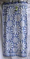 Полотенце лицо лен махра цветы
