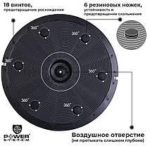 Балансировочная платформа Power System Balance полусфера степ-платформа Trainer Zone PS-4200 Black, фото 2