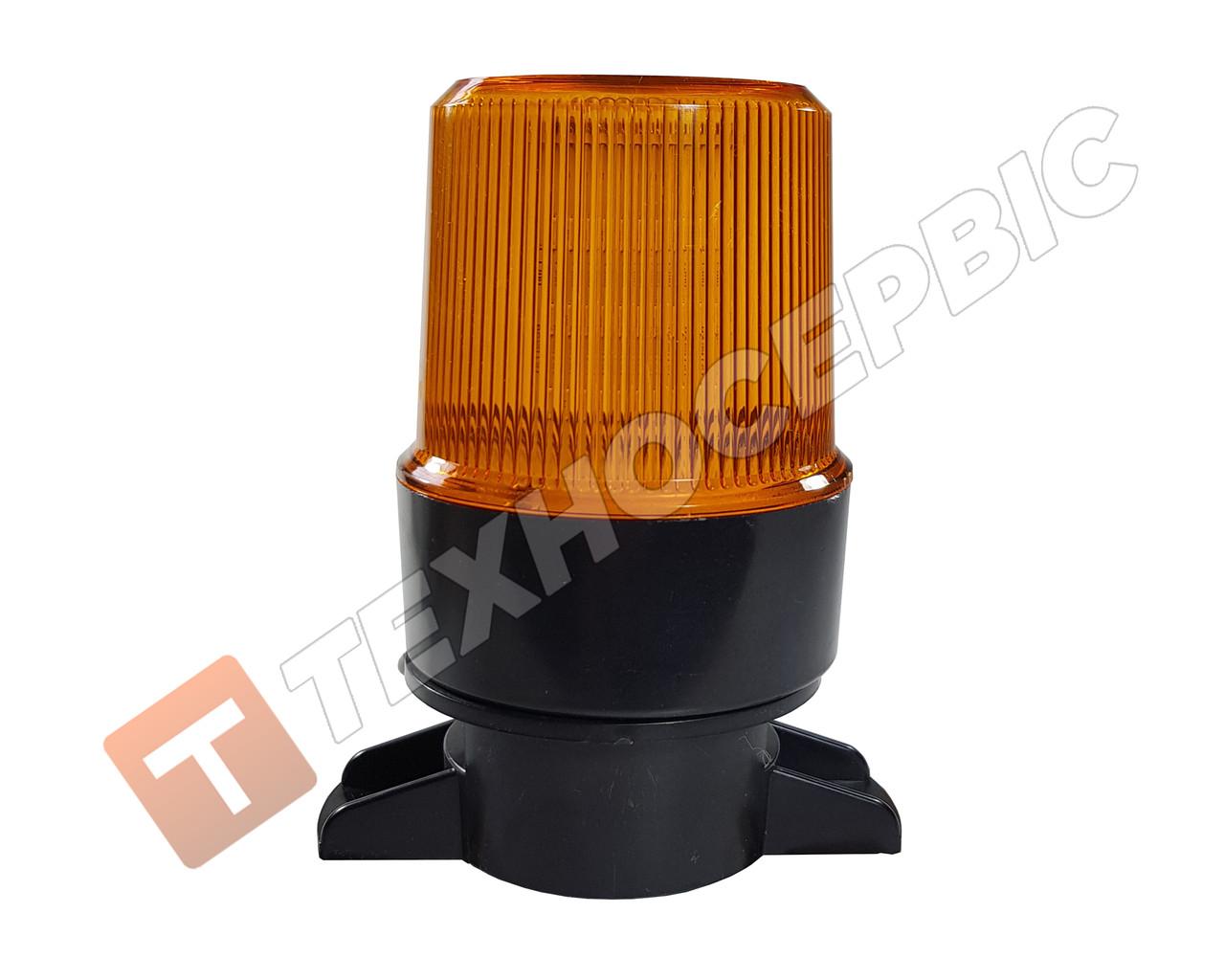 Проблесковый маячок,оранжевый,светодиодный 18LED,10-30 Вольт (мигалка) крепление на шток (пр-во IsiksanТурция)