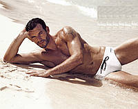 Белые пляжные плавки David Man D1 3931 48(M) Белый David Man D1 3931