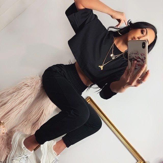 Костюм спортивний жіночий на літо топ і штани з двуніткі