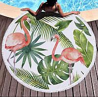 """Круглий пляжний килимок """"Фламінго"""""""