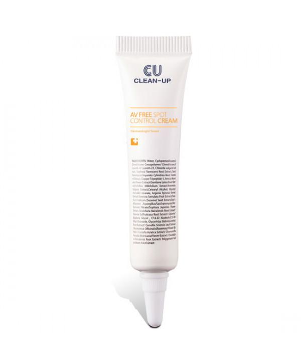 Точечный Крем От Воспалений CU SKIN Clean-Up AV Free Spot Control Cream, 10мл