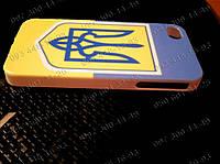 Пластиковый чехол бампер Флаг+Герб Украины для iPhone 4/4s,5/5s Национальная символика на твоем айфоне