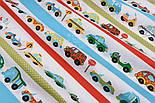 Польська бязь з машинами і смугами (№267а), фото 9