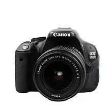 Фотоаппарат зеркальный Canon 600D 18-55mm III F3.5-5.6 б/у / в магазине
