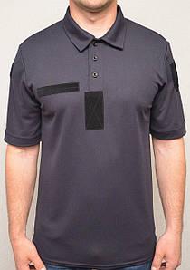 Поло тактичне темносинего кольору XL з потоотводящей тканини CoolPass (ДСНС, Поліція)