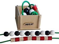 Шнурівка HEGA Буси в дерев'яній коробці. Набір для рахунку., фото 1