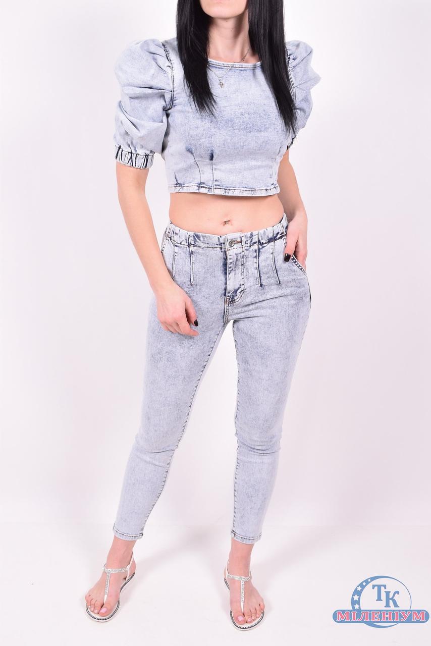 Жіночий джинсовий костюм ZEO BASIC 4406-1 топ+джинси (42-48)