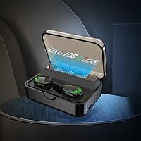 Беспроводные сенсорные наушники AirPlus Pro S590 с функцией Power Bank. Черный цвет.