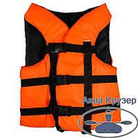 Жилет 50-70 кг страхувальний (спасателный) помаранчевий дорослий універсальний, сертифікований, фото 1