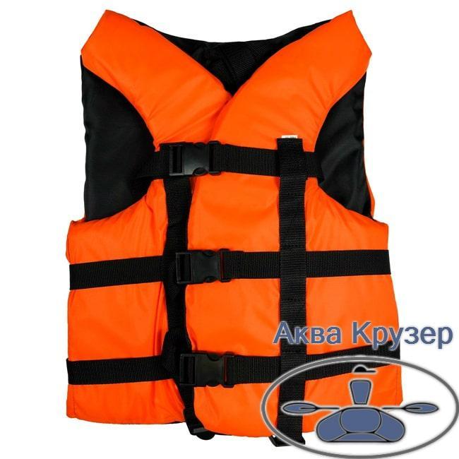 Жилет 50-70 кг страхувальний (спасателный) помаранчевий дорослий універсальний, сертифікований