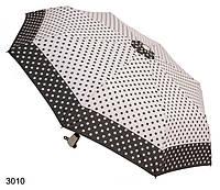 Зонт женский автомат бело-черный в горошек, фото 1