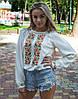 """Блуза жіноча вишита хрестиком """"Соняшники"""" розмір"""