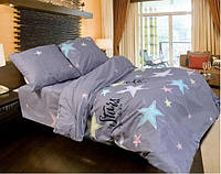 Качественное постельное белье семейка, звезда на сером