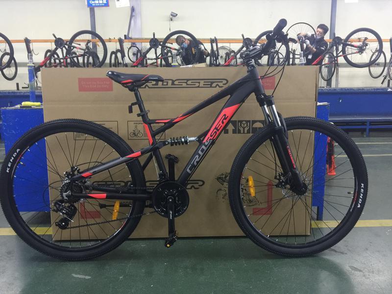 Горный велосипед Crosser Stanley 26 размер рамы 17 черный