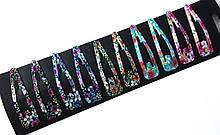 Шпильки для волосся тік-так/хлопавки 6,5 см в квіточку 10 шт