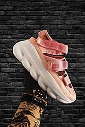 Женские босоножки Versace (розовые)