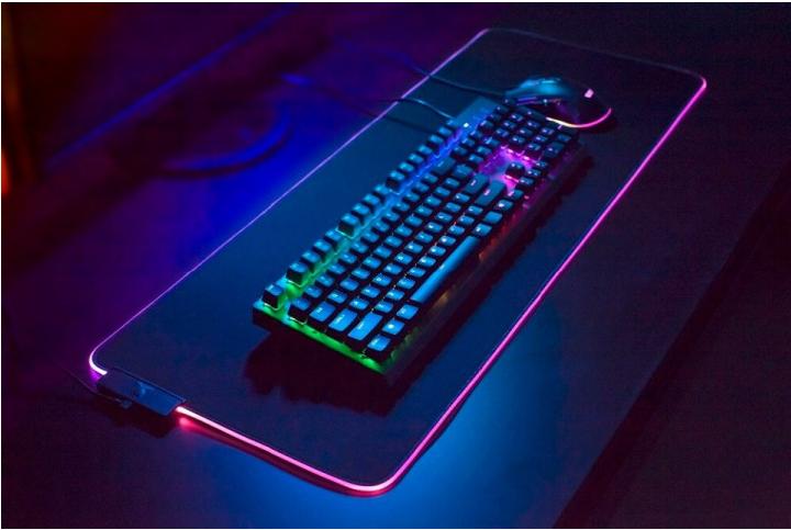 Коврик для клавиатуры и мышки с подсветкой  RASURE