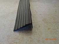Угол на ступень ПРОТИВОСКОЛЬЗЯЩИЙ ( 3м) резиновый Для ступеней и лестниц