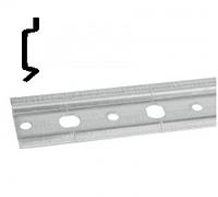 ШИНА МОНТАЖНАЯ H=39 мм, S=1,4 мм, L=2000 мм, ОЦИНКОВАННАЯ, с дополнительным ребром жёсткости, F3M