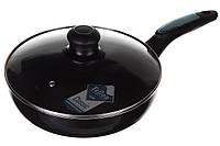 Сковорода с крышкой A-PLUS 24 см сковородка антипригарное покрытие