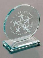 Круглая стеклянная награда на граненной подставке, 110 мм, 95 мм, 50 мм, 10,15 мм