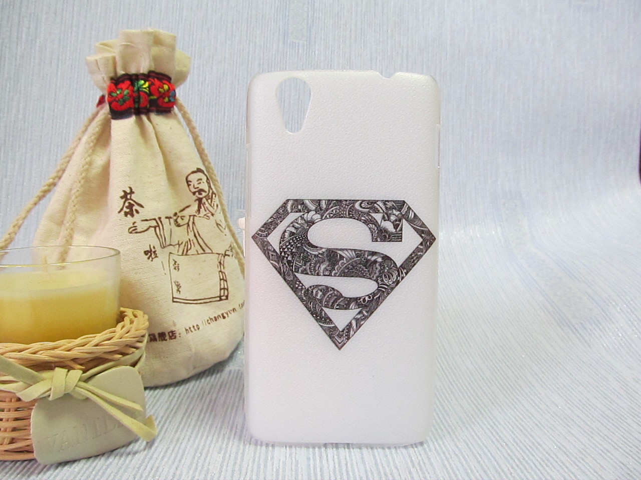 Пластиковый бампер чехол с рисунком для Lenovo S960 Vibe X Superman