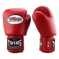 Боксерские перчатки Twins Special BGVL-3 красные 10, 12, 14, 16 унций тренировочные кожаные перчатки для бокса