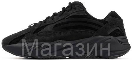 Женские кроссовки adidas Yeezy 700 V2 Vanta Black FU6684 Адидас Изи Буст 700 черные Ванта, фото 2