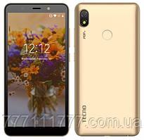 Смартфон золотистый c большим дисплеем на 2 сим карты Tecno POP3 (BB2) 1/16Gb DS Champagne Gold UA UCRF