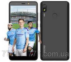 Смартфон золотистый c большим дисплеем на 2 сим карты Tecno POP3 (BB2) 1/16Gb DS Sandstone Black UA UCRF