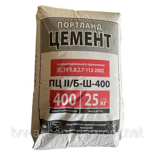 Цемент ПЦ ІІ/Б-Ш 400 Ивано-Франковск 25 кг
