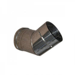 Колено 45° из нержавеющей стали (0.6 мм) для одностенного дымохода