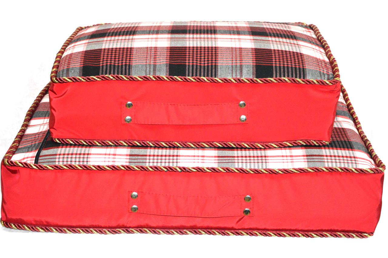 Матрас для собак Люкс красный №1 400х500х120