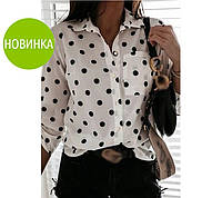 """Рубашка женская в горох """"Ivona"""""""