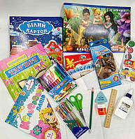 Школьный набор канцтоваров для девочки Стандарт, 19 предметов+слайм в подарок