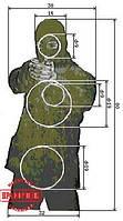 Мишень №2п. поясная фигура «Террорист» зеленая